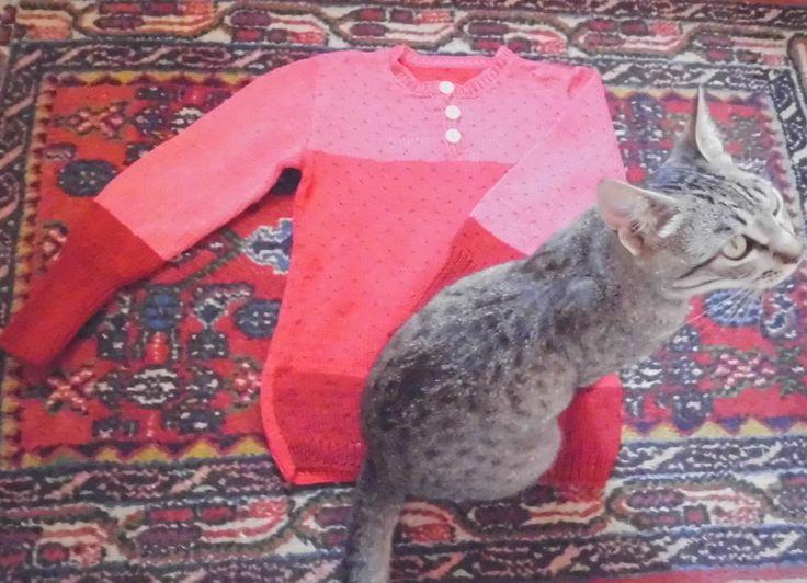 MARIA, una maglia bella e particulare di cotone per bimbi. Artigianato a maglia di domoras