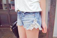 DIY Spitzen- Jeans- Shorts