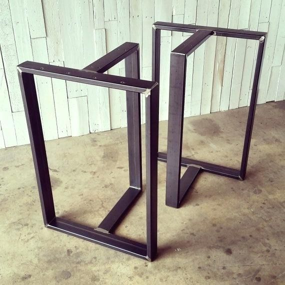 40 Tall Table This Listing Is For A Set Of Custom Metal Pub Height Table Legs They Are Typically Wide Deep Tall But Metal Table Legs Table Legs Metal Pub Table 40 inch tall table