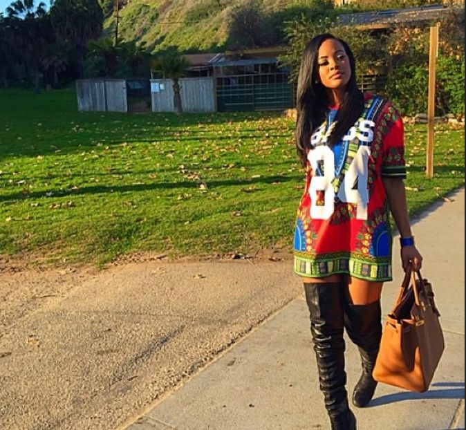 Basketball Wives LA star Malaysia Pargo in a Ron Bass Dashiki Jersey. See more Dashiki looks + Designer Ron Bass Talks Cultural Inspiration Behind The Dashiki | xon.ec/1Jz7XjQ