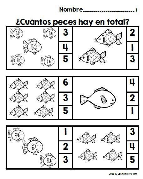 Los números 1-10 (Spanish Numbers 0 to 10 Fluency)   Bilingual Math ...