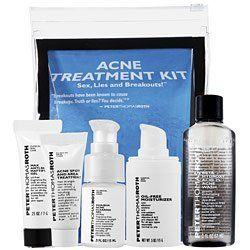 Peter Thomas Roth Acne Treatment Kit Maximum strength by Peter Thomas Roth. $41.78. New in Box. **No U.S. Sale Tax** 5 Pieces Set. Peter Thomas Roth Acne Treatment Kit. Acne & Blemish Control. Containing all the essential products necessary to start fighting and preventing acne, this Peter Thomas Roth Acne Treatment Kit is designed to be a very convenient and effective solution for those who have acne or blemish-prone skin.  This kit includes several favorites from the Peter Tho...