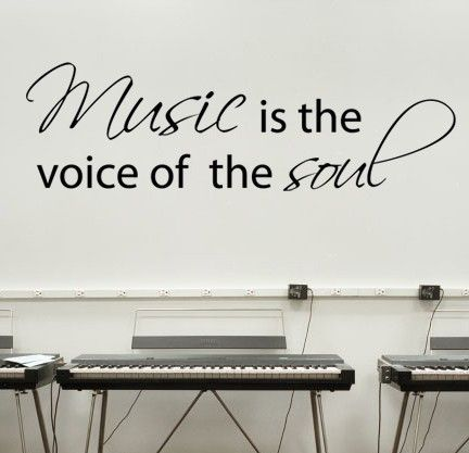 Music is the voice of the soul  Wall Decal  by stixdesign on Etsy, $12.50