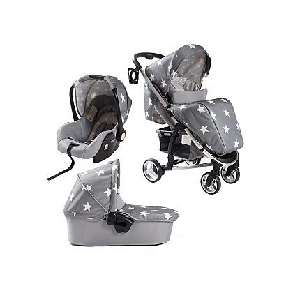 My Babiie Billie Faiers MB100+ Grey Stars Travel System | Baby | George at ASDA
