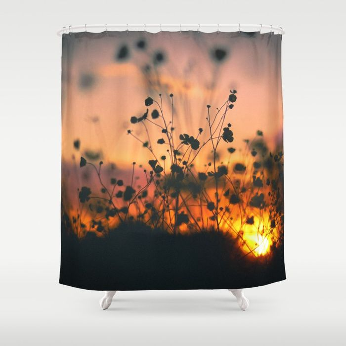 Shower Curtain 128 Poppy Flowers Sunset By Chillingnation Stop