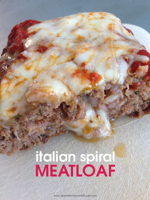 Italian Spiral Meatloaf | Recipe | Spin, Meatloaf Recipes and Italian