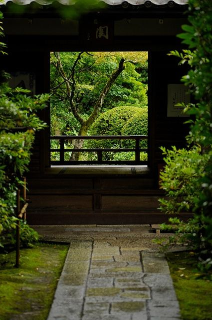 Daitoku-ji Complex, Kyoto, Japan / green home