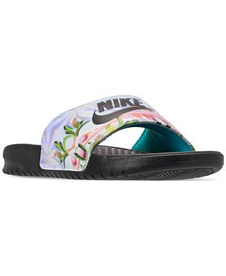 d37a46bb8 Shop Nike Women s Benassi Just Do It Print Slide Sandals from Finish Line  online at Macys