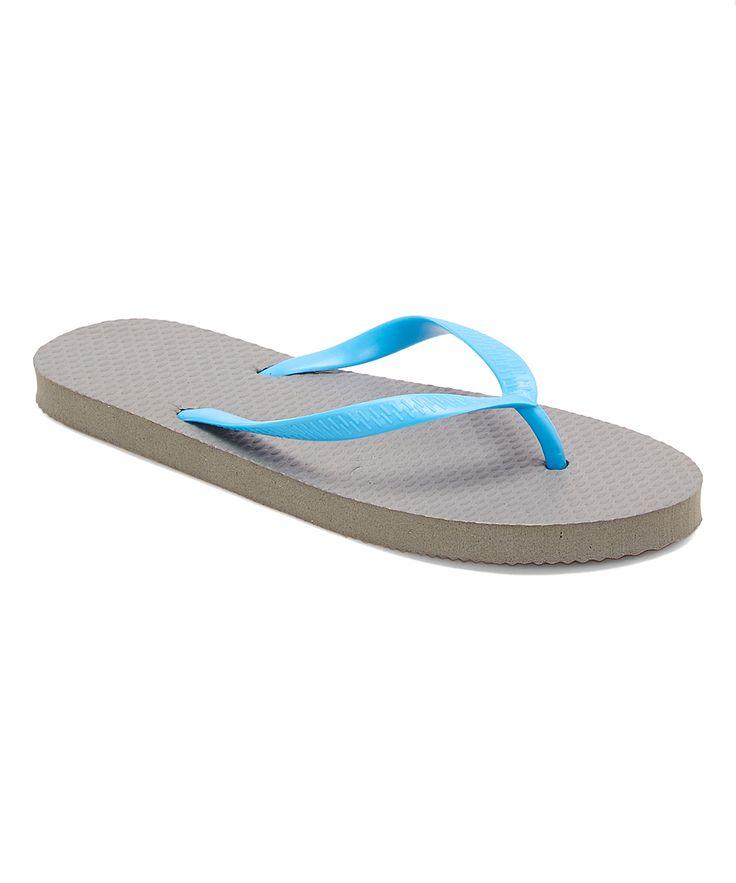 Gray & Blue Flip-Flop