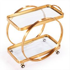 Contemporary Bar Carts, Rolling Bar Carts & Metal Carts - Layla Grayce