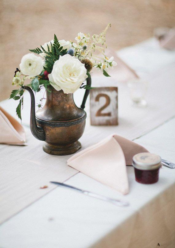 Vintage woodland wedding | photo by Let's Frolic Together | 100 Layer Cake