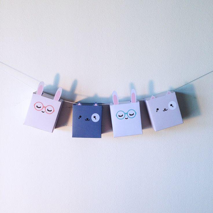 Des Papertoys Bunny and Cat, à imprimer et monter vous même !
