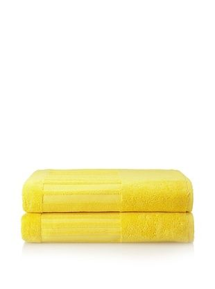 60% OFF Garnier-Thiebaut Set of 2 Bath Sheets, Citron