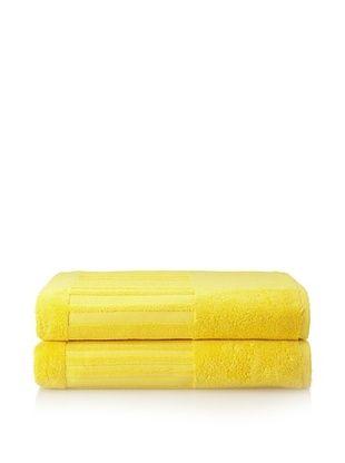 60% OFF Garnier-Thiebaut Set of 2 Bath Sheets, Citron