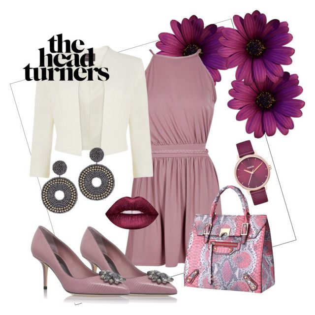 """""""the head turners"""" by eva-thomi on Polyvore featuring Boohoo, Nixon, Phase Eight, Dolce&Gabbana, Kenneth Jay Lane and Lime Crime"""