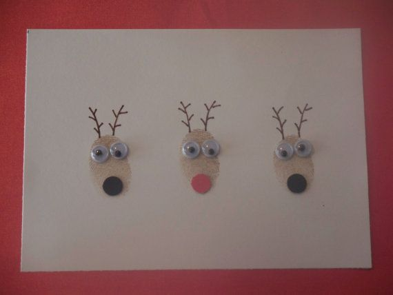 Christmas Cards, Handmade Cards, Reindeer