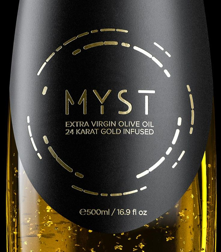 Finest category of a gourmet extra virgin olive oil infused with 24-karat edible golden flakes. MYST® GOLD contains 500 ml extra virgin olive oil, organically cultivated in the historic olive groves of Olympus.