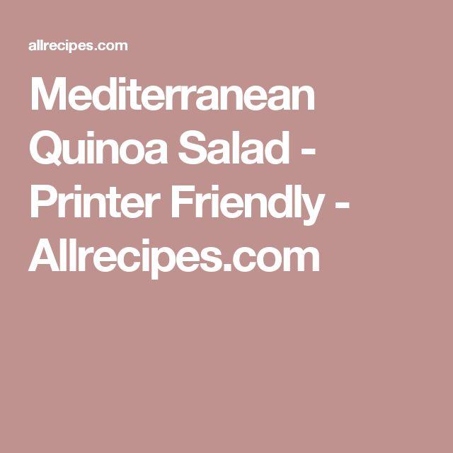 Mediterranean Quinoa Salad - Printer Friendly - Allrecipes.com