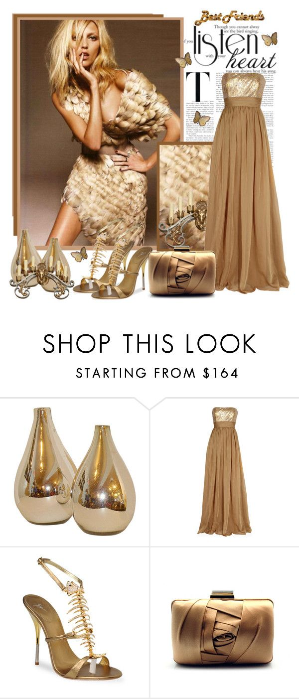 """""""Best frends....."""" by sneky ❤ liked on Polyvore featuring Anja, Badgley Mischka, Giuseppe Zanotti and Franchi"""