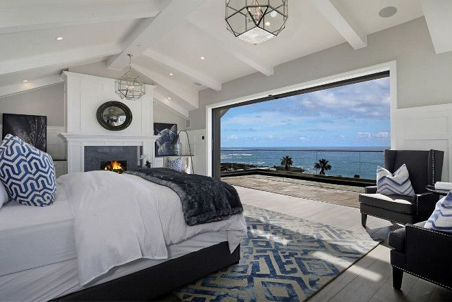 White Cape Cod Beach House Master Bedroom