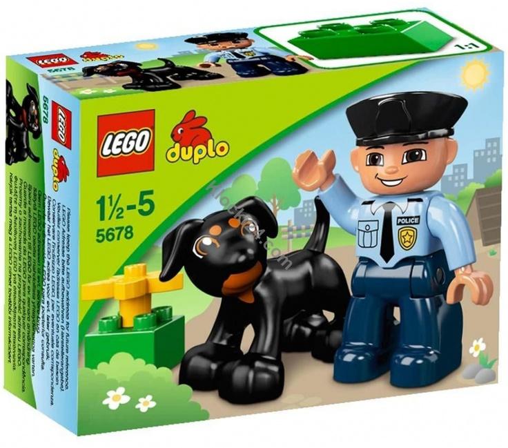 Dostępny w sklepie Klocki24.com zestaw Lego 5678 to policjant patrolujący okolicę razem ze swoim psem. Czy pomożesz im w pracy?