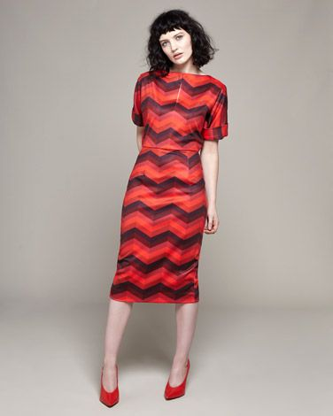 multiLennon Courtney at Dunnes Stores Red Stripe Batwing Dress