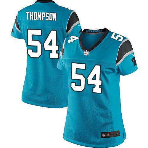Nike Elite Shaq Thompson Blue Women's Jersey - Carolina Panthers #54 NFL Alternate