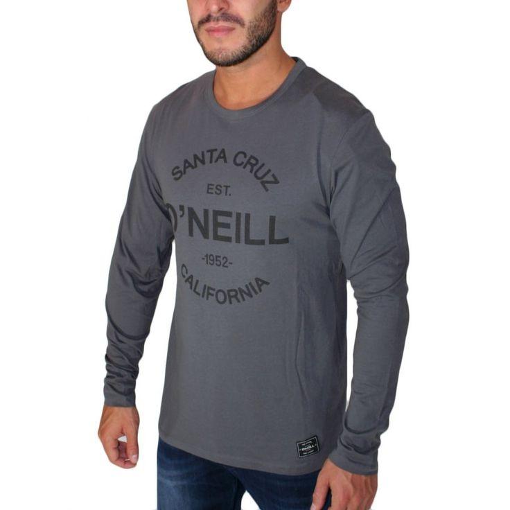 O'NEILL,Ανδρική ανθρακί μακρυμάνικη μπλούζα, regular fit