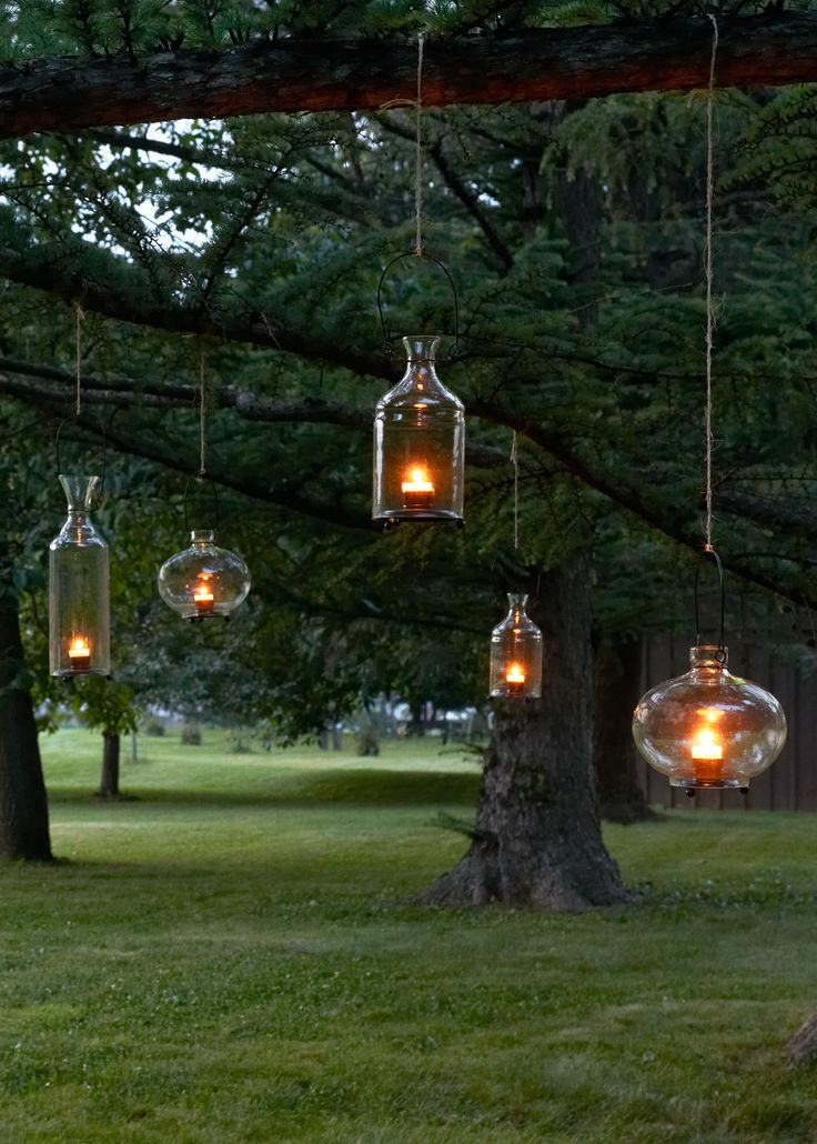 Warm Decor for Your Tabletop or Garden - Recycled Glass Hanging Lanterns | www.rodales.com