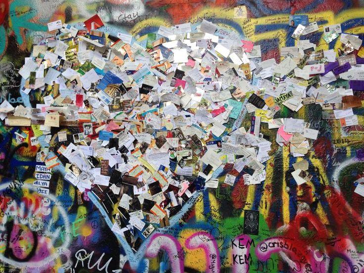 #Prague #johnlennon #wall #memorial #love #notes #peace #topdeck