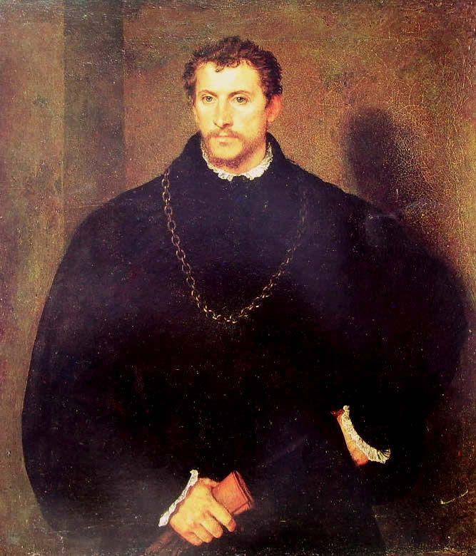 Tiziano Vecellio. Ritratto d'uomo, il giovane inglese. Firenze, Palazzo Pitti