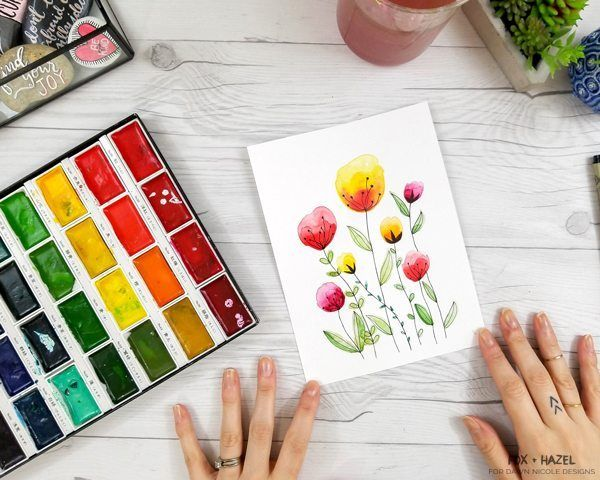 Easy Watercolor Flowers Step By Step Tutorial Easy Watercolor