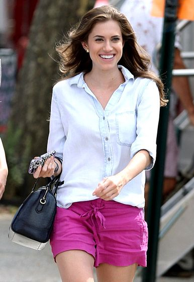Allison Williams in the East Village