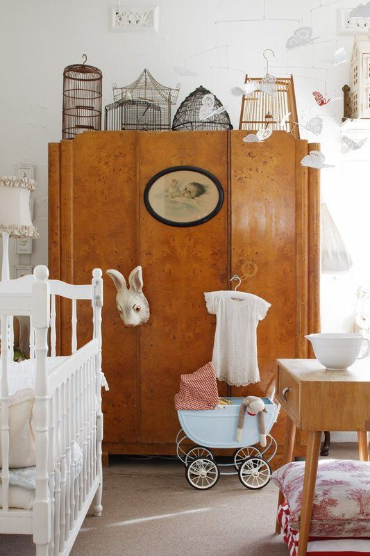 Get rid of all the junk all over the place and that armoire is AMAZING! The Burled wood makes me happy!