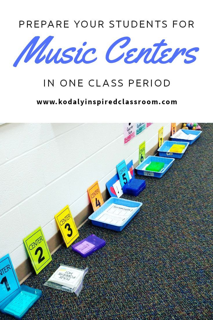 Prepare Your Students for Music Centers | Music Class Ideas | Music