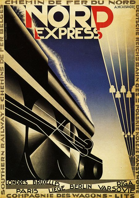 Nord Express by A.M. Cassandre, 1927  via Flickr