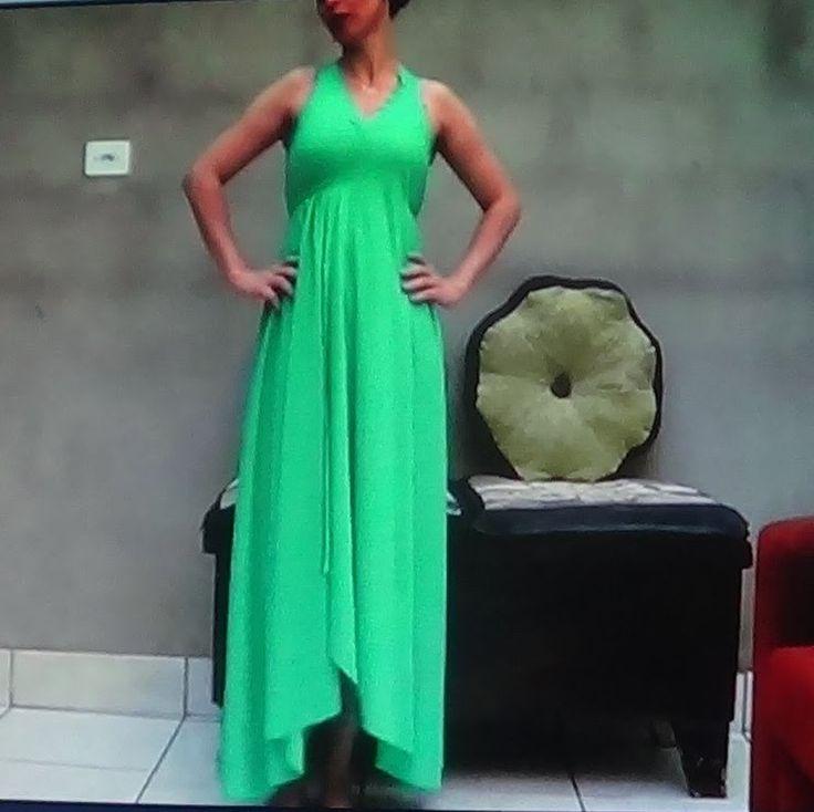 Como fazer Vestido longo sem costura, rápido e fácil Excelente explicação