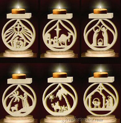 Scroll Saw Patterns :: Lighted projects :: Candle holders ...
