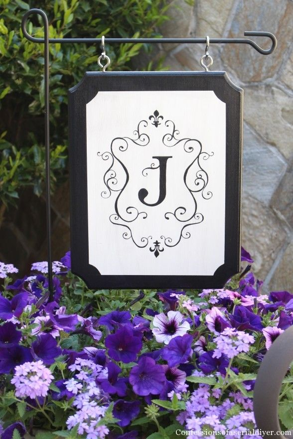 Monogrammed Outdoor Sign-perfect alternative to a flag!