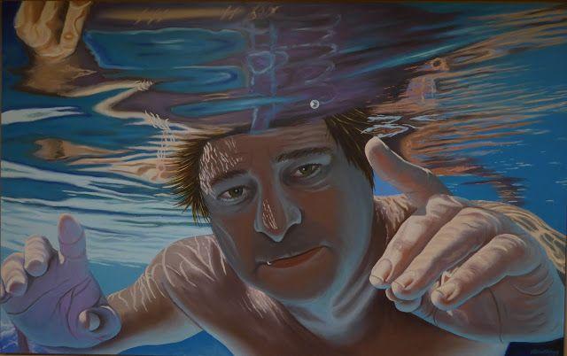 Underwater, Selfportrait 75 x 120 cm November 2016