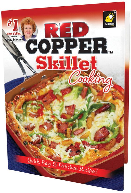 $14.99 - As Seen on TV Red Copper Skillet Cooking Cookbook - Find and create delicious meals with this Red Copper skillet cooking cookbook. Quick, easy and delicious recipes #1 best-selling author Cathy Mitchell Color photos Hardcover 128 pages Publisher: Publications International, LTD Isbn: 978-0-9972597-5-9 Size: One Size. Color: Multicolor.