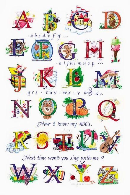 Las cosas de May: DIBUJO E ILUSTRACIONES Curiosa selección de abecedarios ilustrados
