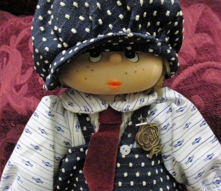 Rare/Collectible Munecas GELI Boy Doll freckles/overalls RETIRED-Made in Mexico #Geli #Dolls