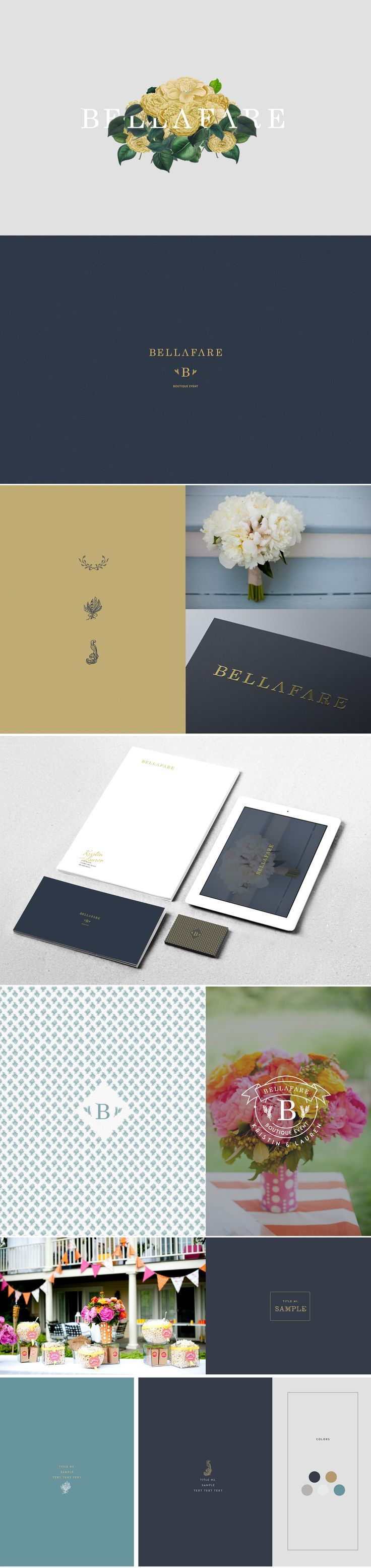 Brand Identity for Bellafare http://bellafare.com #design #branding #flosites…