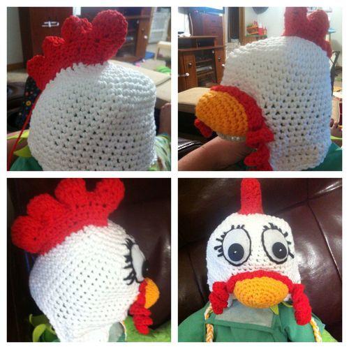 Crochet Animal Hat Patterns Crochet Chicken Hat Pattern ...
