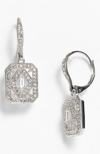 Nadri 'Art Deco' Drop Earrings (Nordstrom Exclusive) available at #Nordstrom #wedding $60