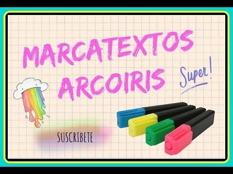 DIY=MARCA-TEXTOS ARCOIRIS -ESPECIAL SEMANA ESCOLAR
