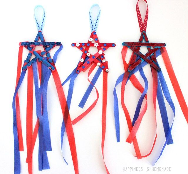 Check out these 25 4th of July Crafts for Kids! Our fun and easy Fourth of July crafts are great to make as decorations for a party or as cute hats or wands.