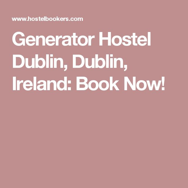 Generator Hostel Dublin, Dublin, Ireland: Book Now!