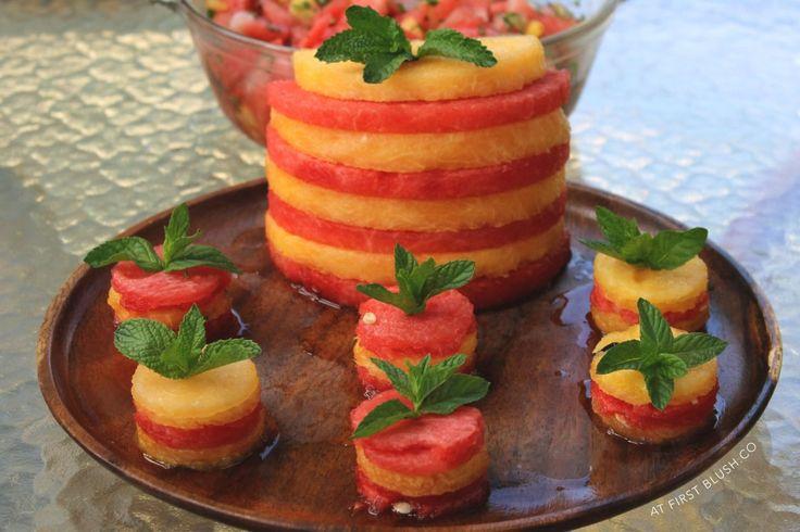 At First Blush   Summer Solstice Watermelon Stack   http://atfirstblush.co